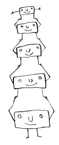 Plusieurs Orci se portent à bout de bras, formant une colonne