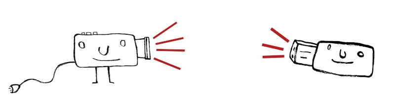Orci ayant pris la forme d'un projecteur fait face à Orci clé usb